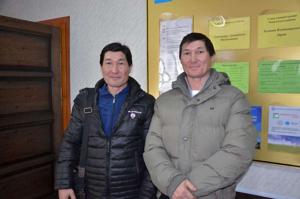 Александр и Мерген Сабатаевы