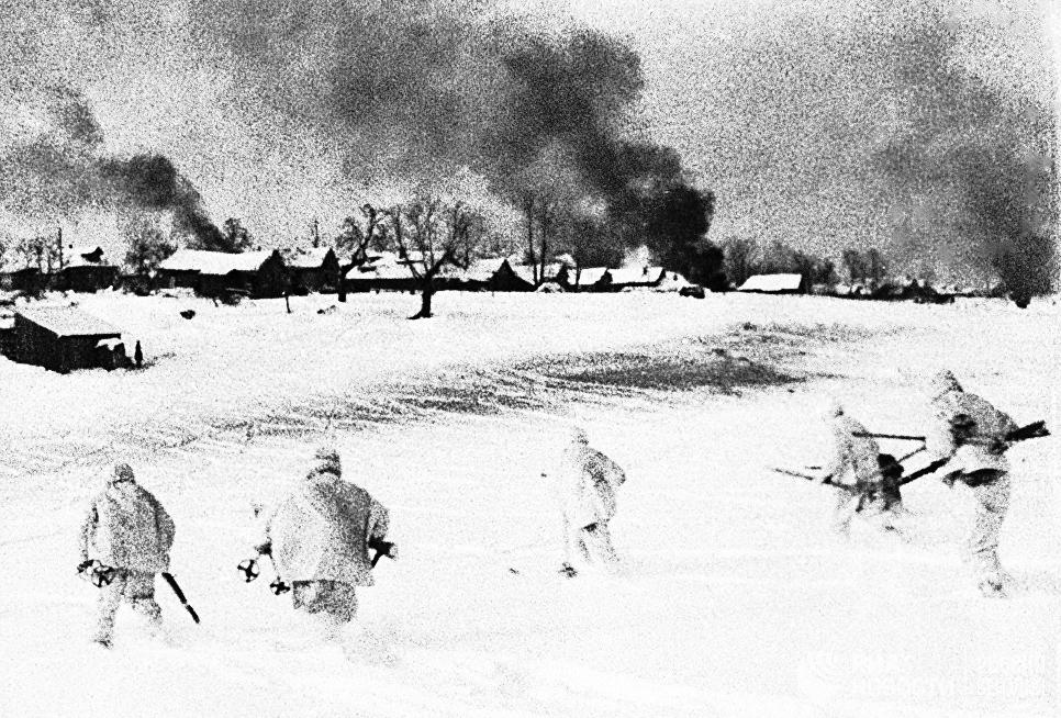 Кадр из документального фильма Разгром немецо-фашистских войск под Москвой-1